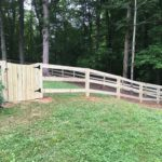 Wooden Pasture Fence