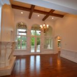 Arched Windows and Ceiling Beams