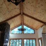 Open Beams on Wooden Ceiling