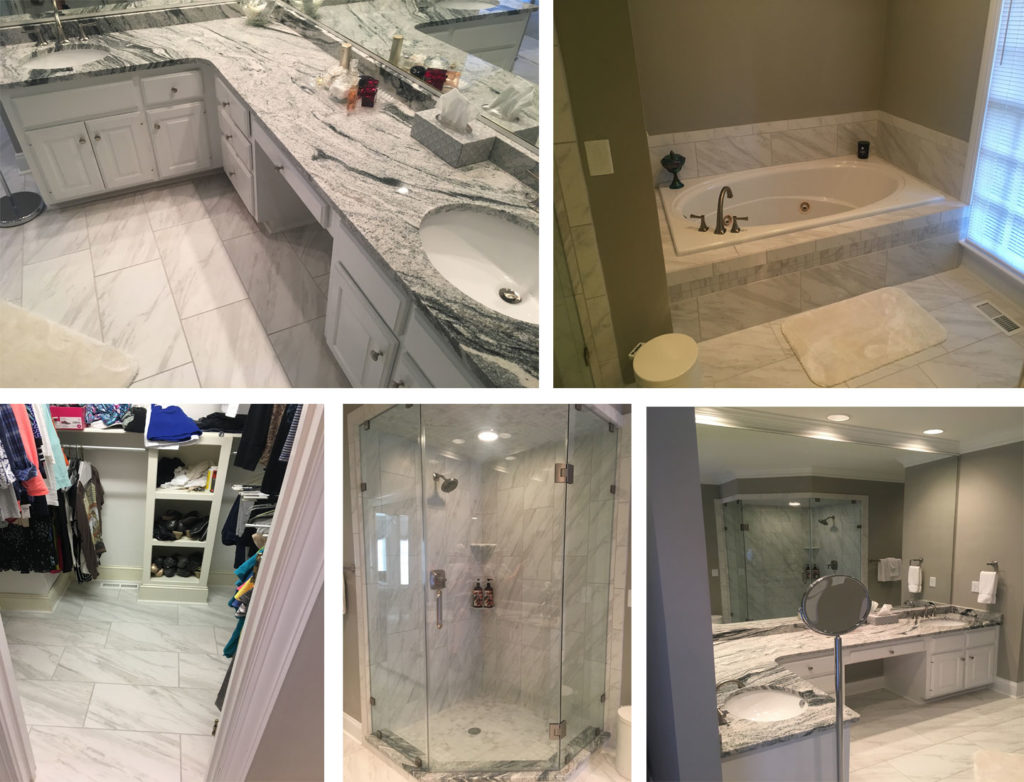 After Master Bathroom Renovation Greensboro NC