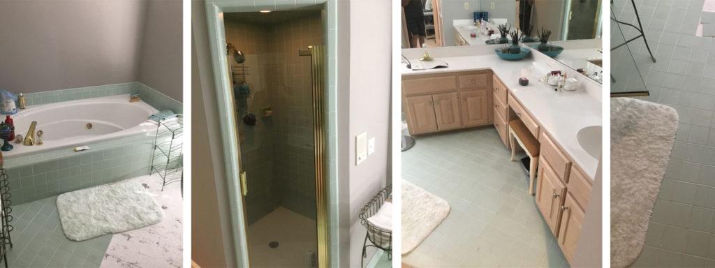 Before Greensboro Master Bathroom Renovation