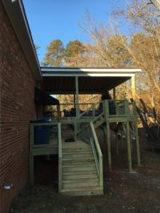 Custom Stairs to New Deck