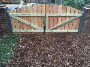 Back of Double-Wide Gate of Wooden Fence