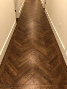 Herringbone Design Hardwood Floor