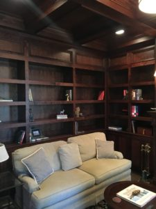 cherry wood built-ins