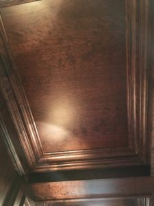 cherry office coffered ceiling