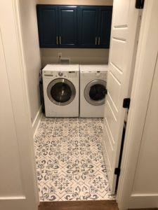 Unique Tile Laundry Room