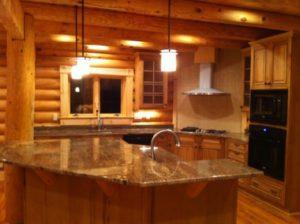 Log Home Kitchen 1