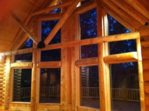 Log Home Great Room 3