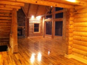 Log Home Great Room 2