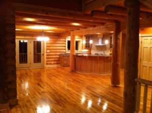 Log Home Great Room1