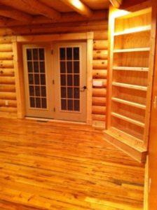 Log Home Bed Room