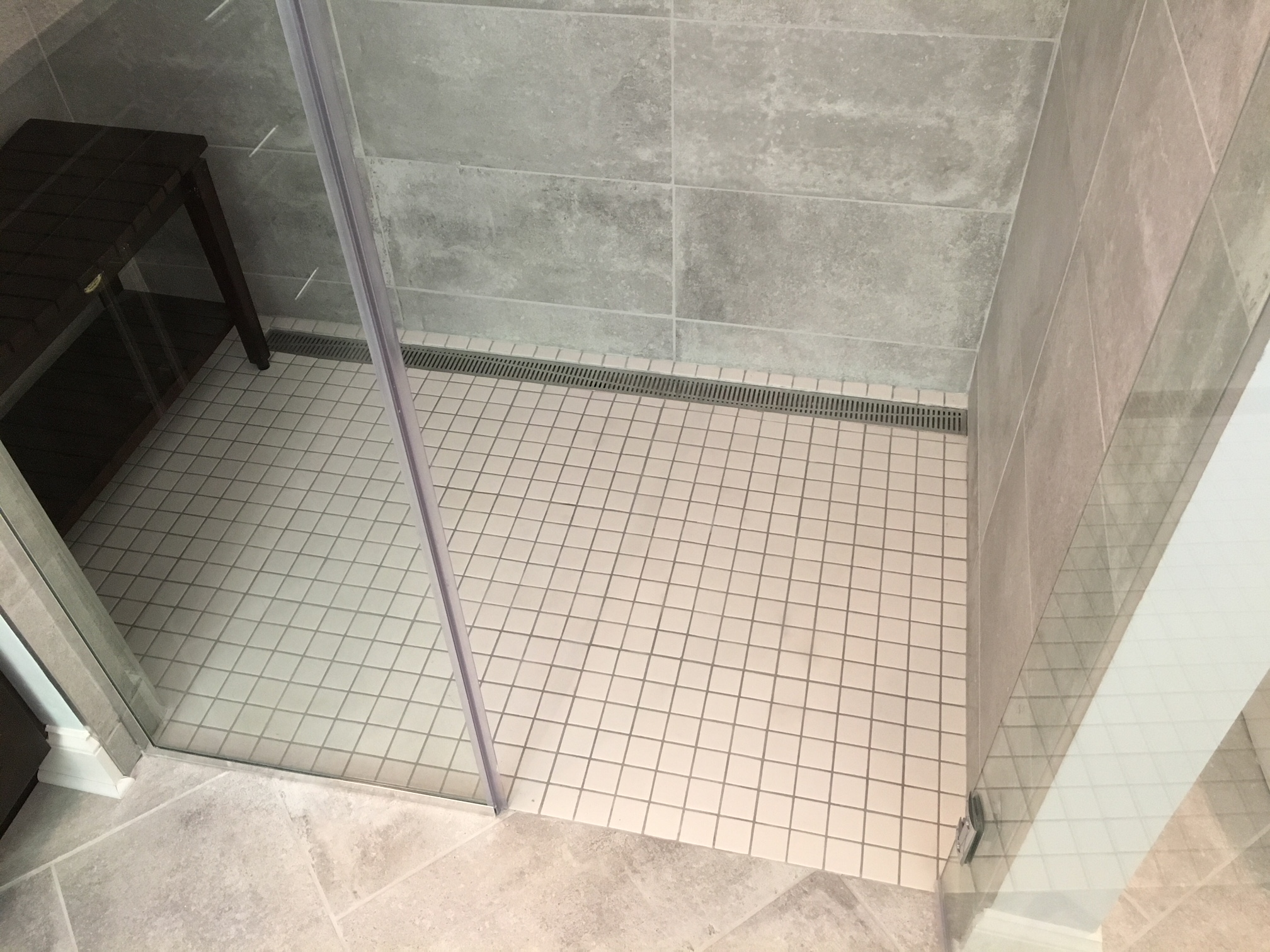 Summerfield Tile Shower Floor Modern Drain