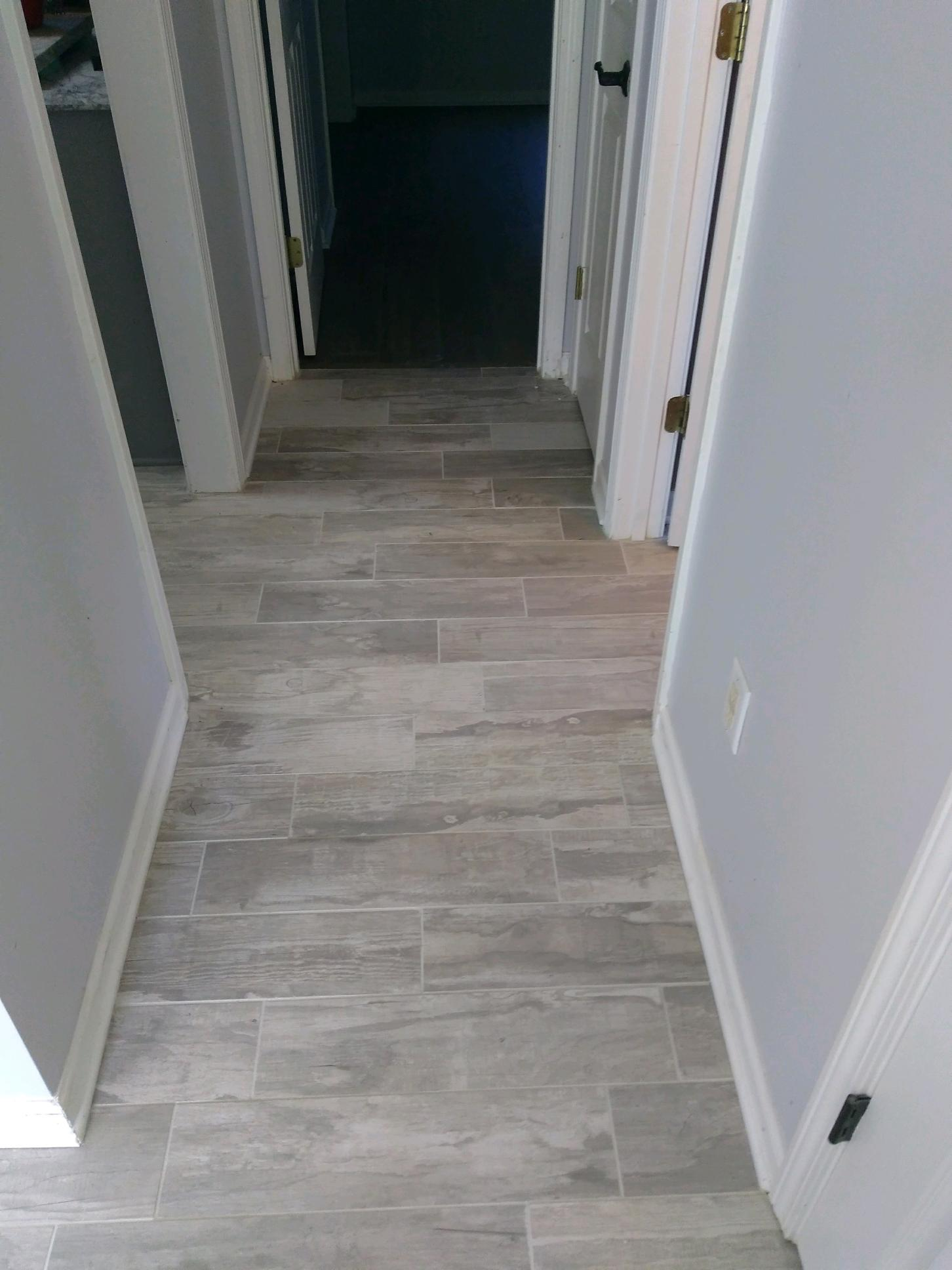 Wood Like Tile in Hallway