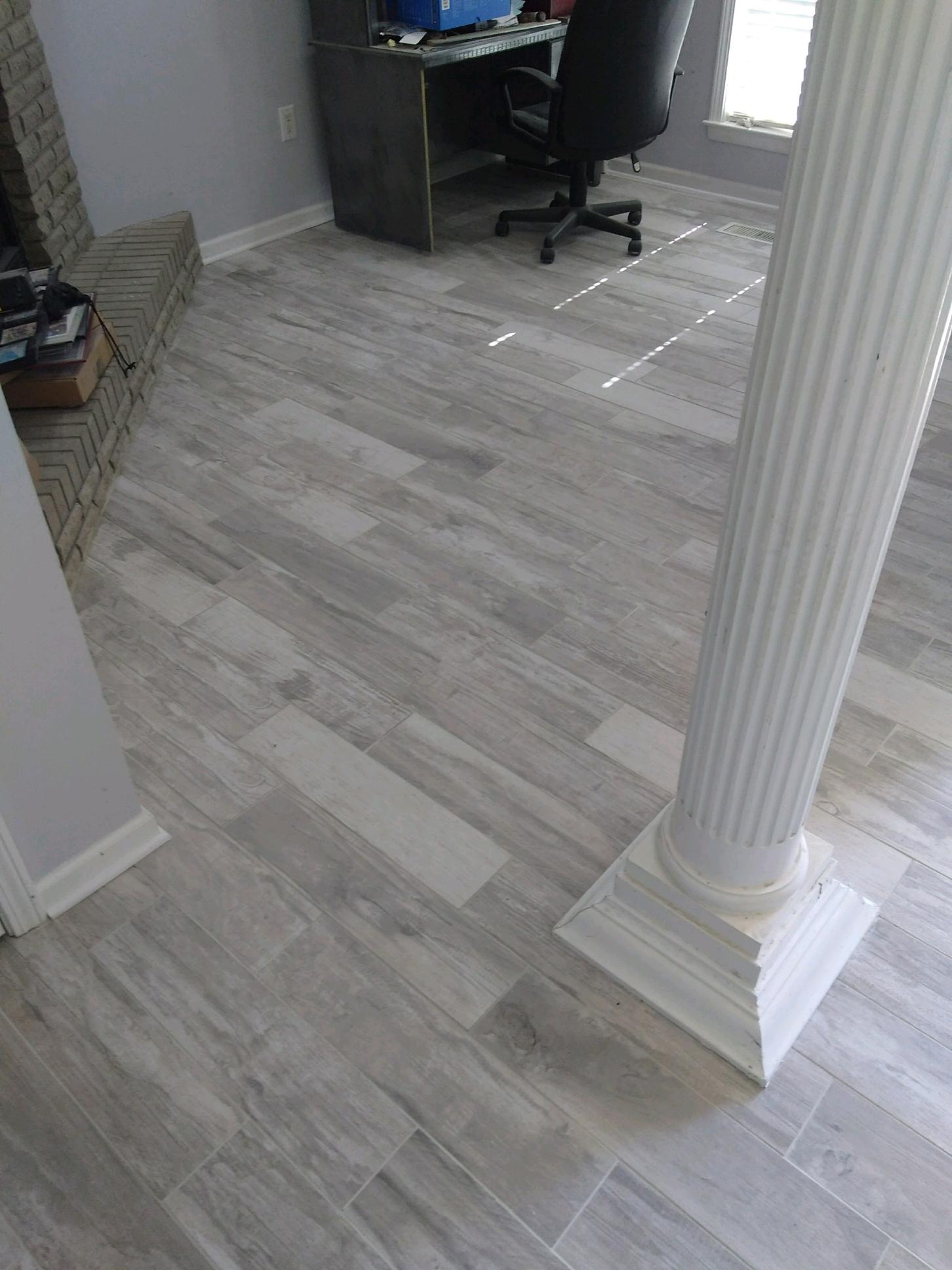 Wood Like Tile in Great Room