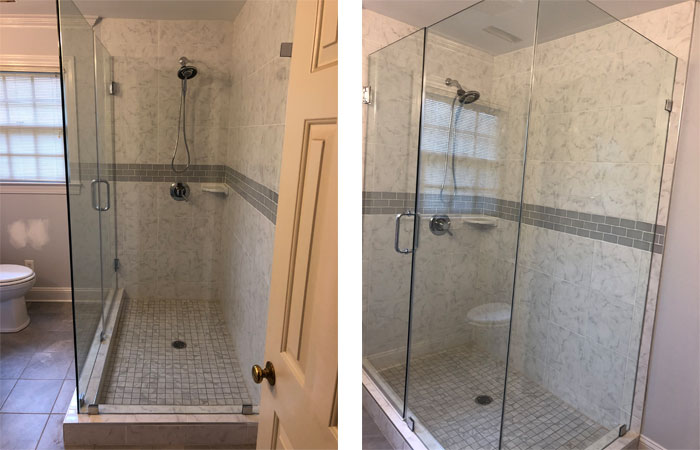 Frameless Glass Tile Shower